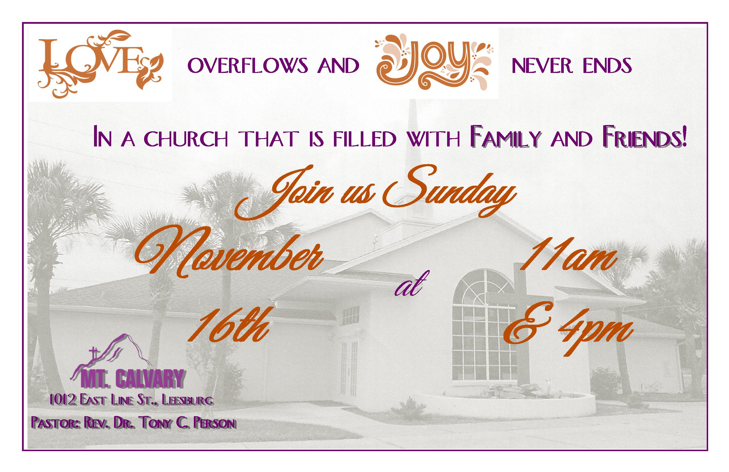 sermons on family and friends day | just b.CAUSE